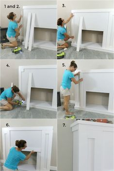 build a faux fireplace surround, add an electric insert for instant cozy ambiance! Upgrade your home with a DIY fireplace mantle. Tutorial, video and plans to build a faux fireplace Faux Fireplace Mantels, Diy Mantel, Build A Fireplace, Craftsman Fireplace, Fireplace Inserts, Fireplace Wall, Living Room With Fireplace, Fireplace Surrounds, Fireplace Surround Diy