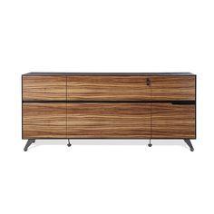 Modern Storage Credenza in Zebrano Wood Finish Furniture Logo, Unique Furniture, Shabby Chic Furniture, Table Furniture, Contemporary Furniture, Office Furniture, Furniture Design, Cheap Furniture, Kitchen Furniture