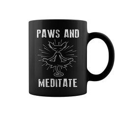Paws And Meditate #2 Mug  coffee mug, papa mug, cool mugs, funny coffee mugs, coffee mug funny, mug gift, #mugs #ideas #gift #mugcoffee #coolmug