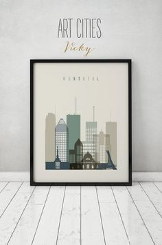 Montreal print, Poster, Wall art, Canada cityscape, Montreal skyline, City poster, Typography art Home Decor, Digital Print ART PRINTS VICKY.