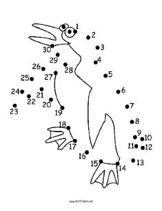 The scared cartoon penguin in this printable dot to dot puzzle is flapping its flippers and jumping up and down. It is great for winter holiday parties and for people who like penguins. Free to download and print