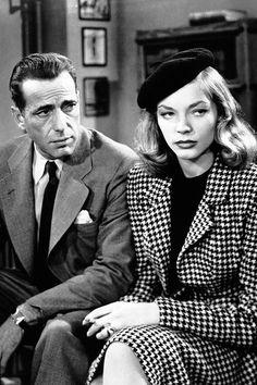 "Humphrey Bogart & Lauren Bacall in ""The Big Sleep"" by Howard Hawks  - 1946 -... two Myths... two Legends..."