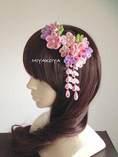 【miyo8008様ご注文品】つまみ細工 七五三の髪飾り二点セット