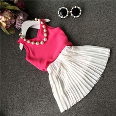Children Set Girl Suit Outfits Girl Dress Best Suits Child Clothes Kids Clothing 2015 Summer Tank Tops Fashion Princess Ruffle Skirts C8352 From Lovekiss, $45.76 | Dhgate.Com