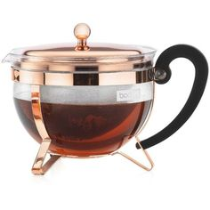 Bodum Chambord Classic Copper 44 Oz. Tea Pot (66 AUD) ❤ liked on Polyvore featuring home, kitchen & dining, teapots, food, fillers, decor, food & drink, copper, tea-pot and copper teapot