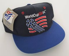 Vintage World Cup  94 USA The Game Deadstock Snapback Hat VTG by  StreetwearAndVintage on Etsy 04fdbf3f0255