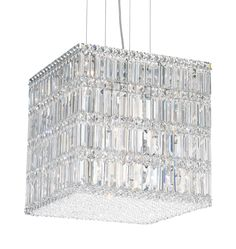 Quantum is a contemporary design that may take the shape of a strip, box or block. Square, rectangular and octagonal crystal jewels are densely arranged and precisely positioned for a wild display of prismatic color. Also MADE WITH SWAROVSKI ELEMENTS.