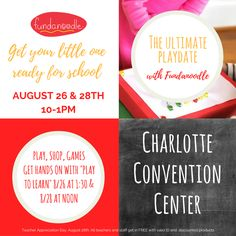 Don't miss Fundanoodle at the Ultimate Playdate at the Southern Women's Show!