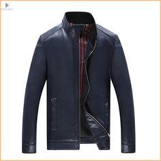 ZEESHANT Mens Leather Overcoat Jaquetas Masculina Em Couro Leather Jacket Men Cazadora Piel Hombre Jaqueta L-8XL Zipper Coat