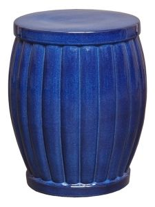 Fluted Garden Stool - Blue