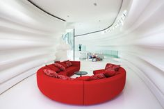 We love this modern circular living room
