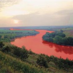 nile turned to blood | Water of Nile River Transformed to Blood Angel Clouds, Sky And Clouds, Blood In Water, Blood Red Moon, Angels Blood, Signs From Heaven, Falling From The Sky, Nile River, Earth From Space