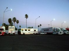 Parked at a Pemex in MX for the night--boondooking