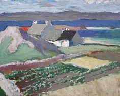Iona Landscape by John Maclauchlan Milne (Scottish 1886-1957) Contemporary Landscape, Abstract Landscape, Landscape Paintings, Environment Painting, John Everett Millais, Art Uk, Plein Air, Art Images, Modern Art