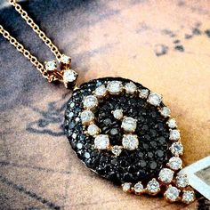 Beautiful Pendant in rose and white gold .. ct 1.55 black diamonds ct 1.10 white diamonds € 4.575 #proposal #luxury #luxuryjewelry #finejewerly #weddinginspiration #weddingstyle #bridalispiration #weddingphotography #nikon #art #свадебный #свадьба #свадьба2016 #свадебныйдень #мода #красота #стиль #невеста #жених #inselly #instadaily #dream #hautejoaillerie #carinigioielli #gold