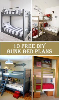 10 Free DIY Bunk Bed Plans