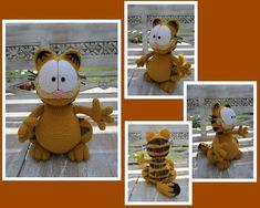 Crocheted Garfield: Multi-views by aphid777.deviantart.com on @deviantART