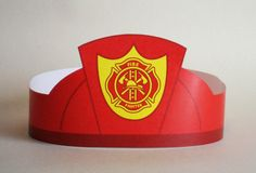 Create your own Fire Fighter Crown! Print, cut & glue your fire fighter crown together & adjust to fit anyones head!  • A .pdf file available for
