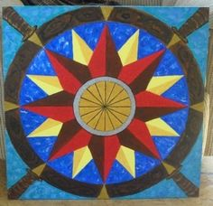 2 ' x 2' hand painted barn quilt by emily