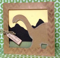 Booscraps - Scrapbooking, card making and a little bit of my life.: Cricut Dinosaur Tracks Birthday Card