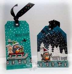 YNS Supplies: Waddles Winter Happiness stamp and die sets | Create a Winter Fun Scene Die