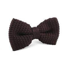 Brown Knitted Bow Tie |  Men's Suit Knitted Bow Tie for Men | Mens Wedding Knit Bow Tie Normal Knits Bow Tie Width Handmade Gentlemen Accessories for Guys | Buy Knitted Bow Tie Online Shop Australia | Knitted Bow Tie Men's Fashions | OTAA