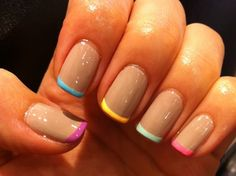 Colour French Manicure