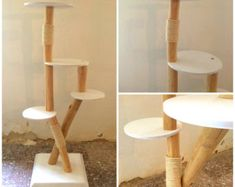 HANDMADE Hard Wooden Floor Lamp  Stehlampe aus von TheShiningWood