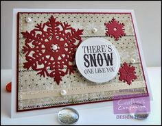 Crafter's Companion Vintage Christmas; Project by Giovana Smith. Stamp set used: Let it snow. @crafterscomp
