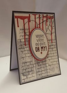 Stamping at The Warren: Ghoulish Grunge Handmade Halloween Card using Stampin' Up! Products UK