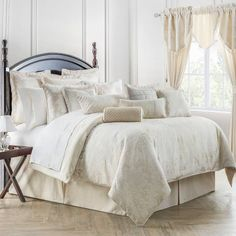 Product Image for Waterford® Linens Paloma Reversible Comforter Set in Ivory 1 out of 2