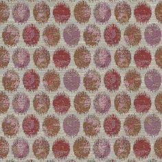 Warwick Fabrics : BESSIE, Colour CORAL