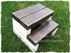 Kid's step stool I made using 2x4s! Cheap and easy! Check out my Facebook page: https://m.facebook.com/luvleecreations/