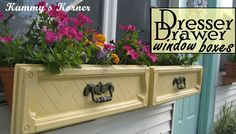Dresser Drawer Upcyle: Window Boxes - A few years ago, someone gave me one of those plastic coated pressboard made-to-look-like-wood dressers and it wreaked of…