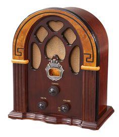 Crosley Companion Retro AM/FM Radio with Full-Range Speaker, Walnut & Burl AM/FM radio with vintage style Analog tuner External FM antenna Dynamic full range speaker Tvs, Radios, Gifts For Seniors Citizens, Walnut Burl, Art Deco, Art Nouveau, Old Time Radio, Modelos 3d, Antique Radio