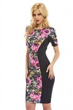 Bright Floral Panel Dress visit this boutique now! http://shopmodmint.com/shop/clothes/bright-floral-panel-dress/