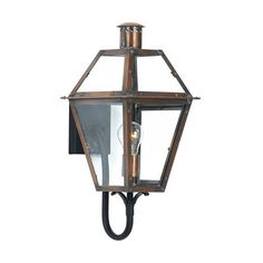 "Quoizel RO8410 Rue De Royal 1 Light 21"" Tall Outdoor Wall Sconce with ($398) ❤ liked on Polyvore featuring home, outdoors, outdoor lighting, aged copper, wall sconces, outside lanterns, quoizel outdoor lighting, quoizel, propane lantern and electric patio lights"