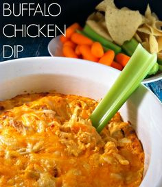 This Buffalo Chicken Dip is ooey gooey, oh so cheesy, full of shreds of chicken. The cream cheese adds a smooth and creamy texture to it. It's to die for.