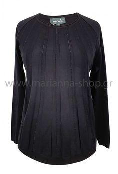 Μπλούζα μαύρη Jumpers, Knitwear, Blouse, Long Sleeve, Sleeves, Shopping, Tops, Women, Fashion