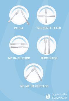 El lenguaje de los cubiertos. Protocolo en lamesa