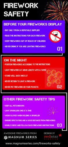 Firework Safety [INFOGRAPHIC] #firework#safety
