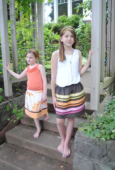 Society Stripe Skirt from Violet Craft featuring Madrona Road « Sew,Mama,Sew! Blog