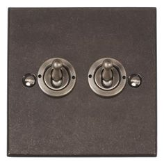 2 Gang Steel Dolly Switch Bevelled Plate