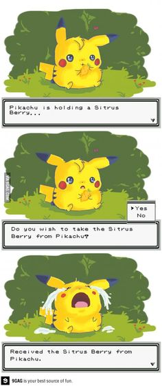 I'm not gonna lie but even now when I take something away from my pokemon a little part of me dies inside...