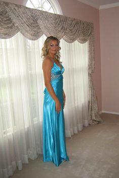 Blue Satin Dress, Satin Gown, Satin Dresses, Gowns, Satin Lingerie, Pretty Lingerie, Pretty Dresses, Beautiful Dresses, Blond
