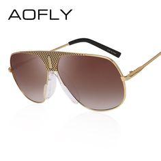 47958ba7db6b9c AOFLY Hommes Steampunk lunettes de Soleil Mâle Vintage Revêtement Miroir  Métal lunettes de Soleil Marque Designer