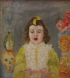 James Ensor  Girl with Masks. (Communion)  Discover the coolest shows in New York at www.artexperience..