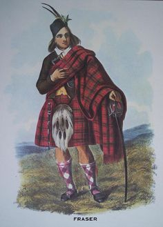 Clan Fraser   Scottish Tartan Art Print