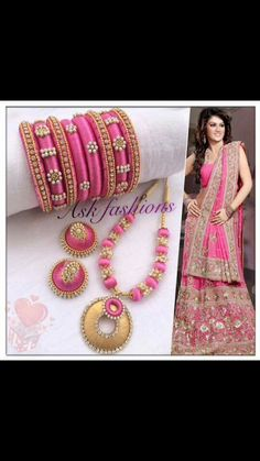 To order, pls what's app on wts up 9121010270 Silk Thread Bangles Design, Silk Thread Necklace, Silk Bangles, Beaded Necklace Patterns, Thread Jewellery, Jewelry Patterns, Beaded Jewelry, Jewelry Crafts, Handmade Jewelry