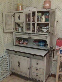 McDougall kitchen cabinet pair Teapot door inserts Hoosier
